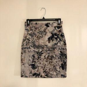 Floral H&M Pencil Skirt
